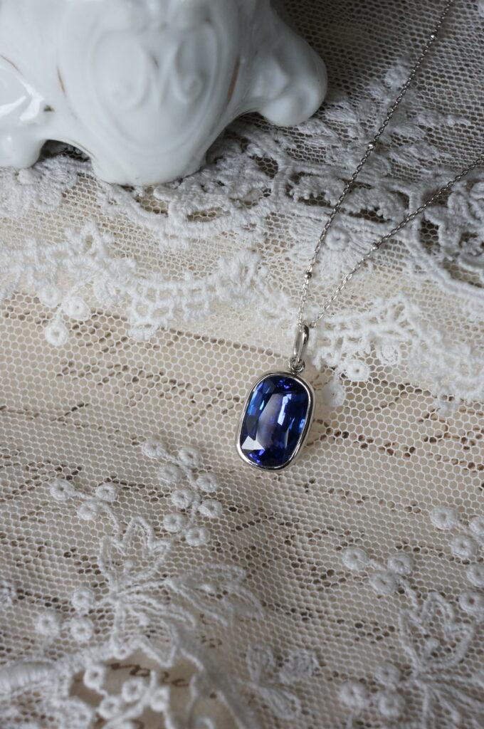 美しい青 タンザナイト オーダー品