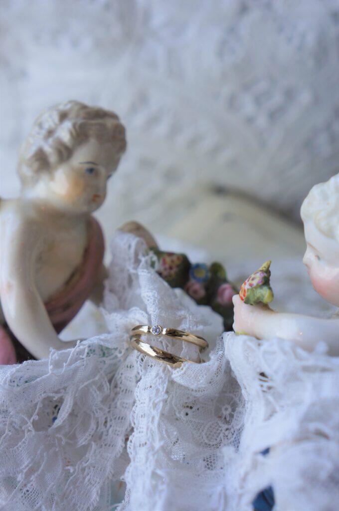 この花と一緒に贈るよ・・・♡ 結婚指輪