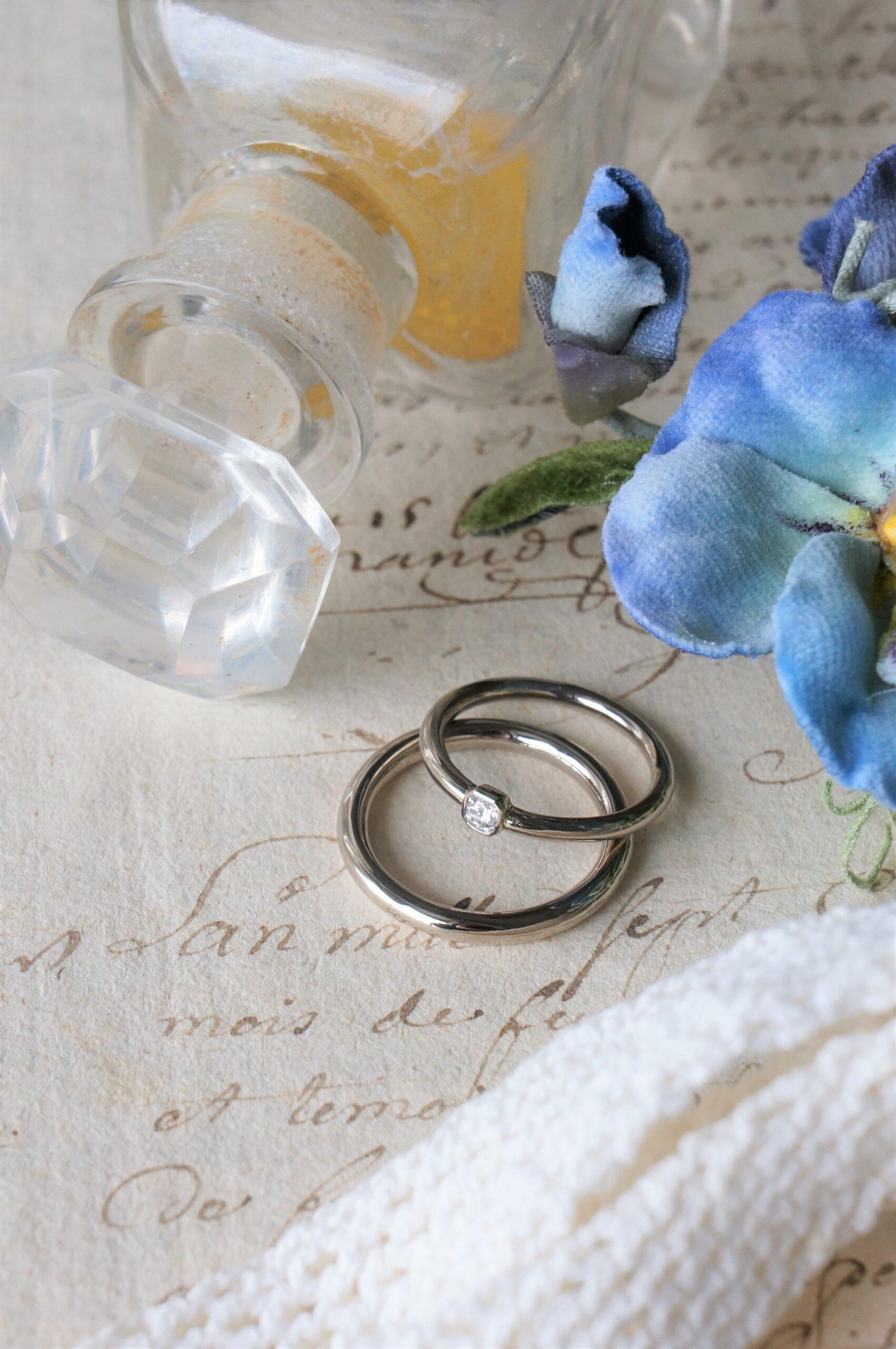 すみれの咲くころに・・・ 結婚指輪