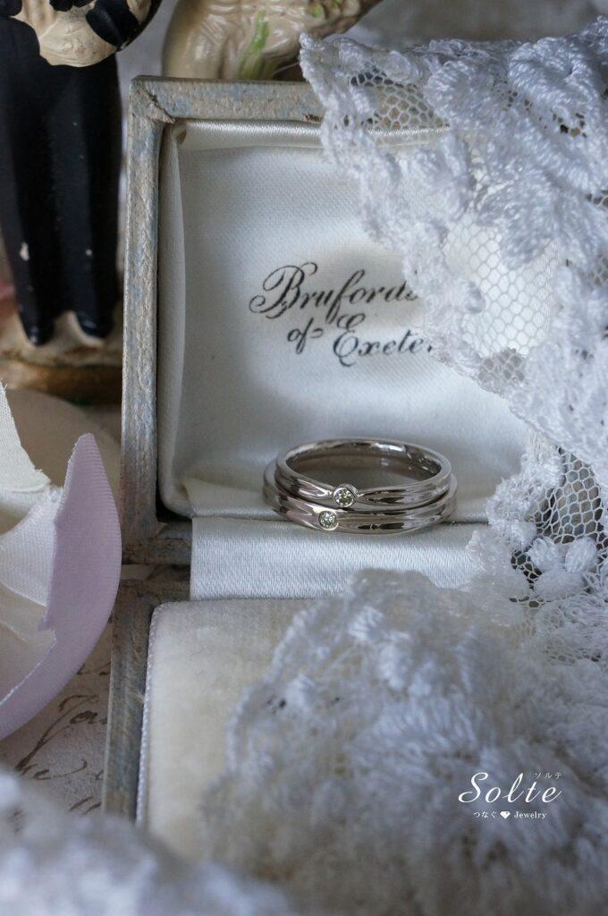 きらめきもお揃いで♡ 結婚指輪