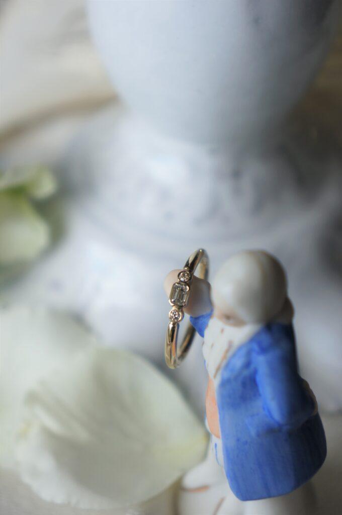 一点ものからお選びいただきました♡ 結婚指輪