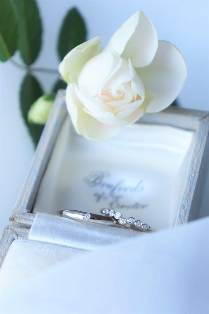 リズミカルにきらめきを 結婚指輪