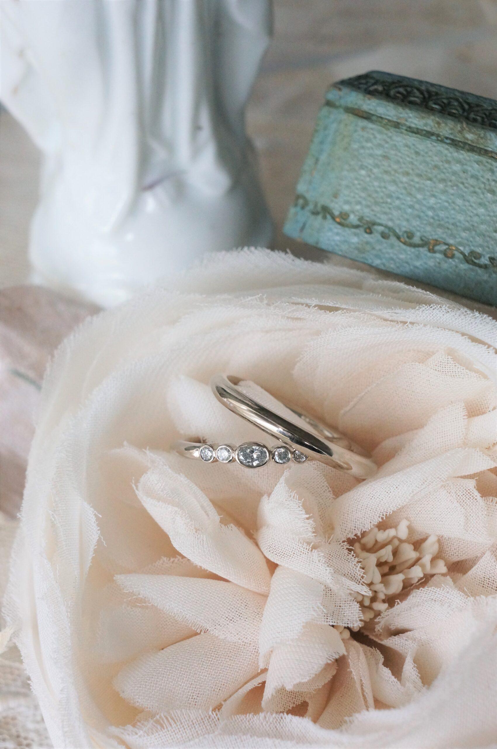 煌めきをならべて お好みの数でエタニティーへ 結婚指輪