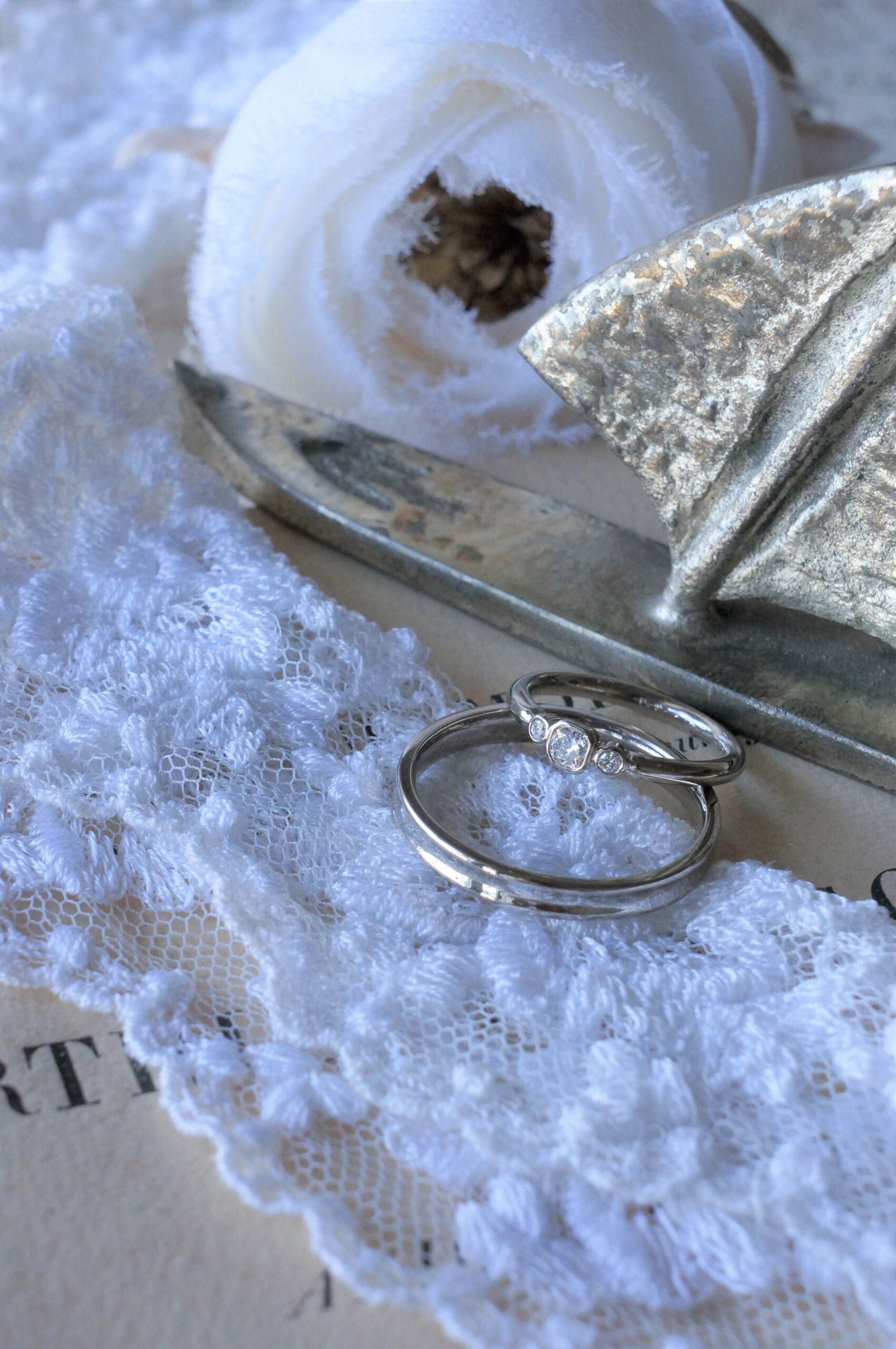 穏やかな海へと 結婚指輪