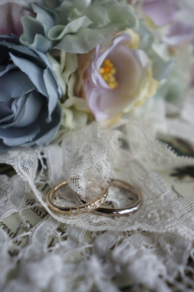 プリンセスの煌めきをならべて 結婚指輪