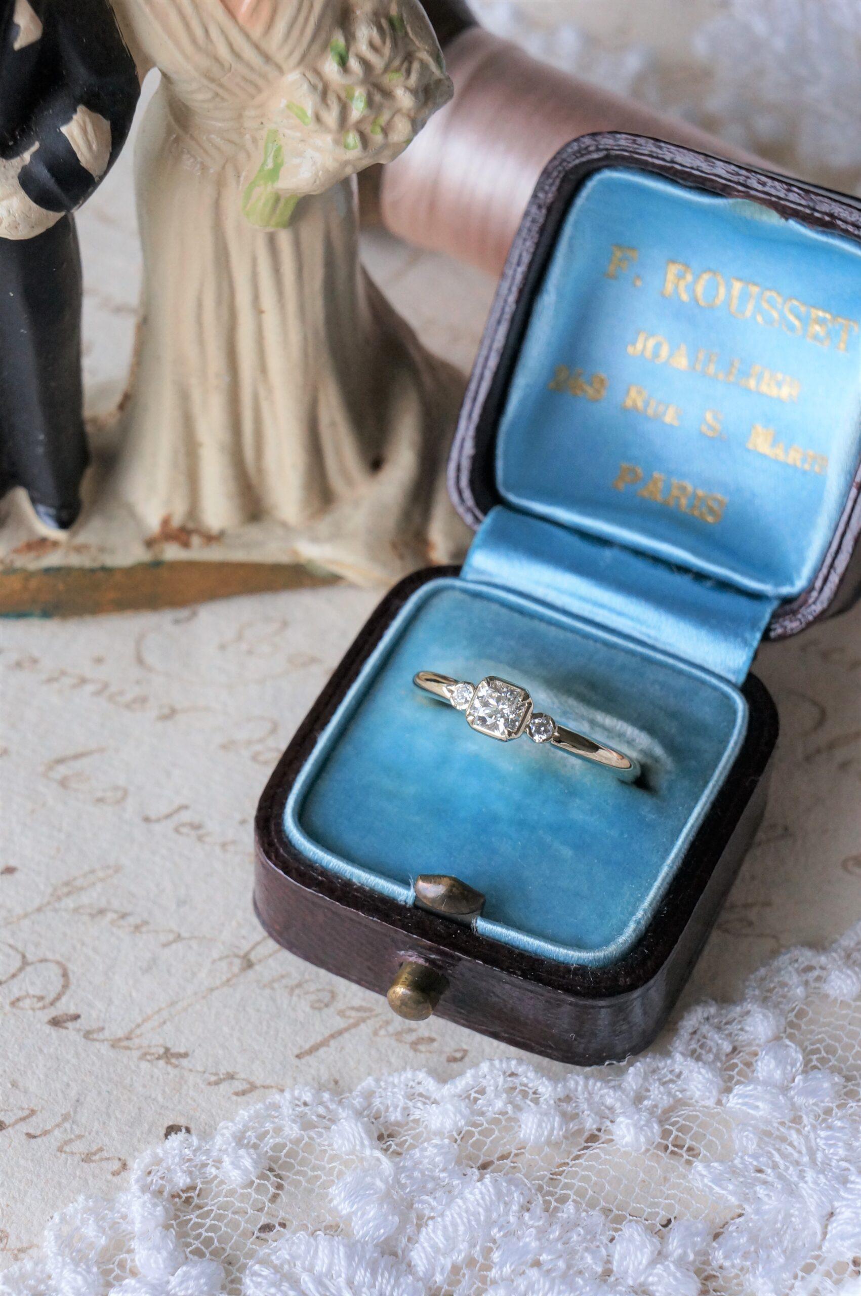 美しく稀少なカッティングのダイアモンドで素敵に仕上がりました 婚約指輪にもおすすめの一点ものリング