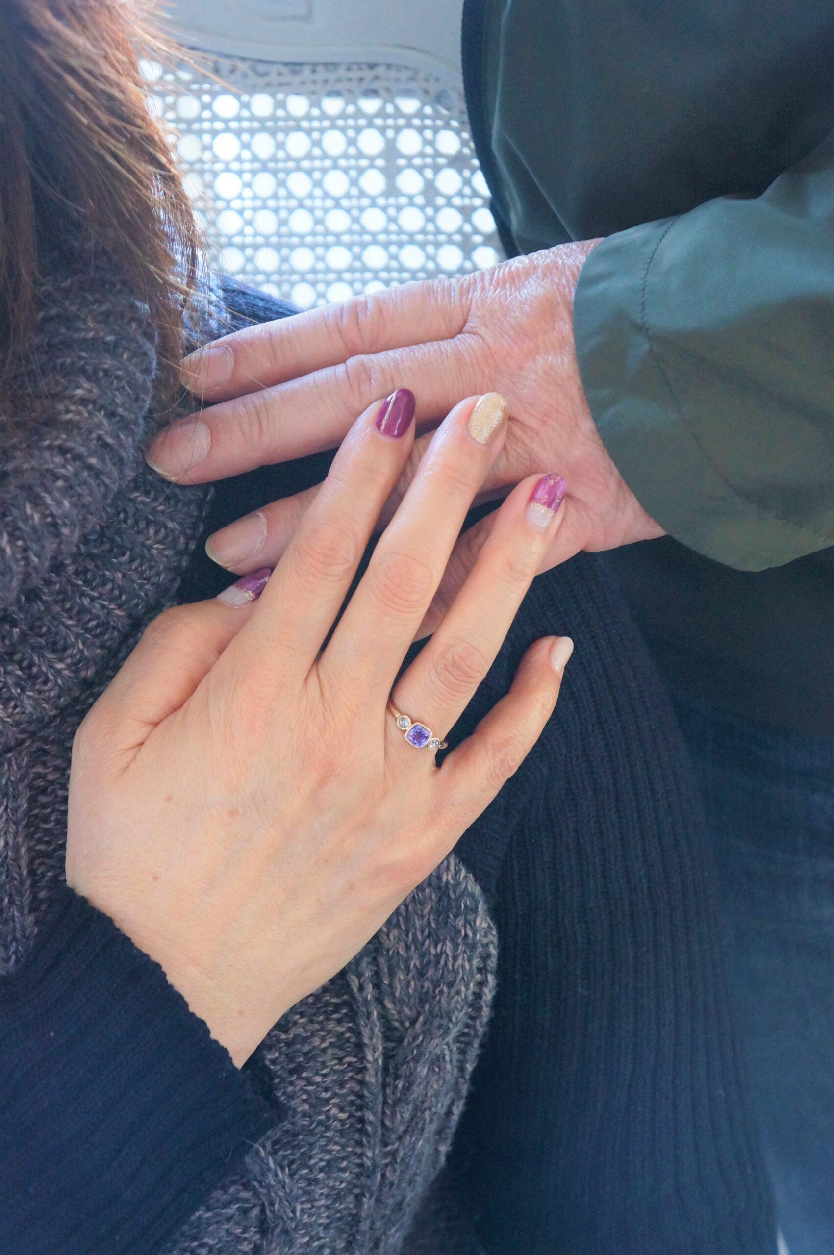 素敵なめぐり合い・・・ パープルサファイア・ダイアモンド一点ものリング