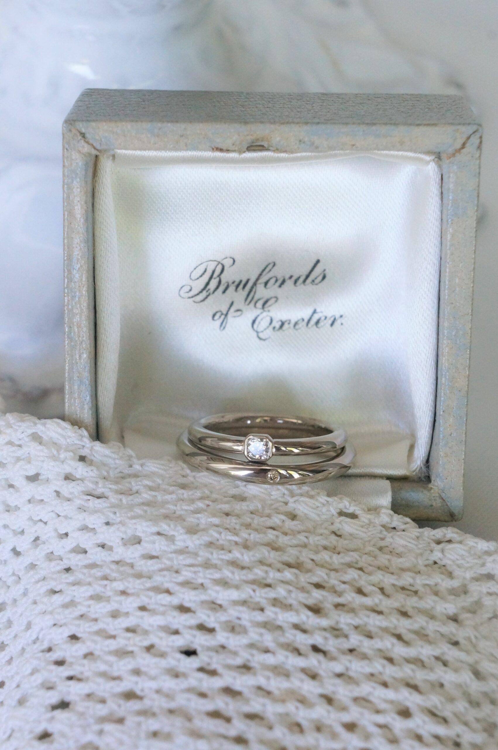 それぞれにお気に入りの煌めきを♡ 結婚指輪