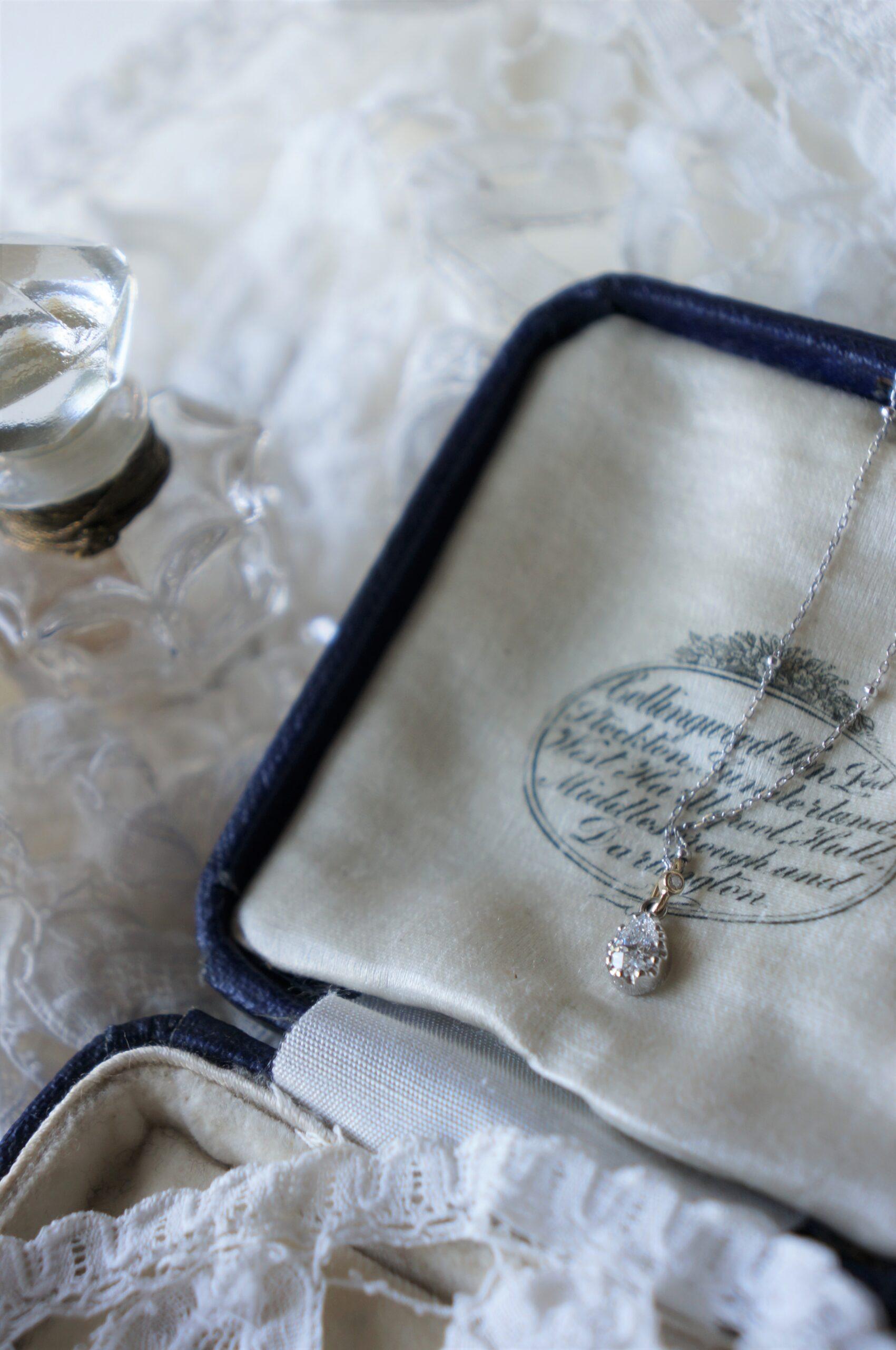 ご結婚10周年の贈り物♡ 一点ものペアシェイプダイアモンド