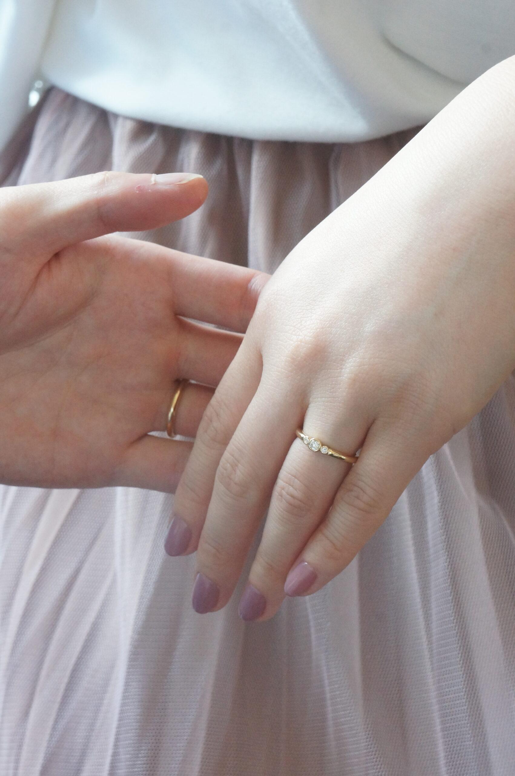 ときめきの煌めきをならべて 結婚指輪