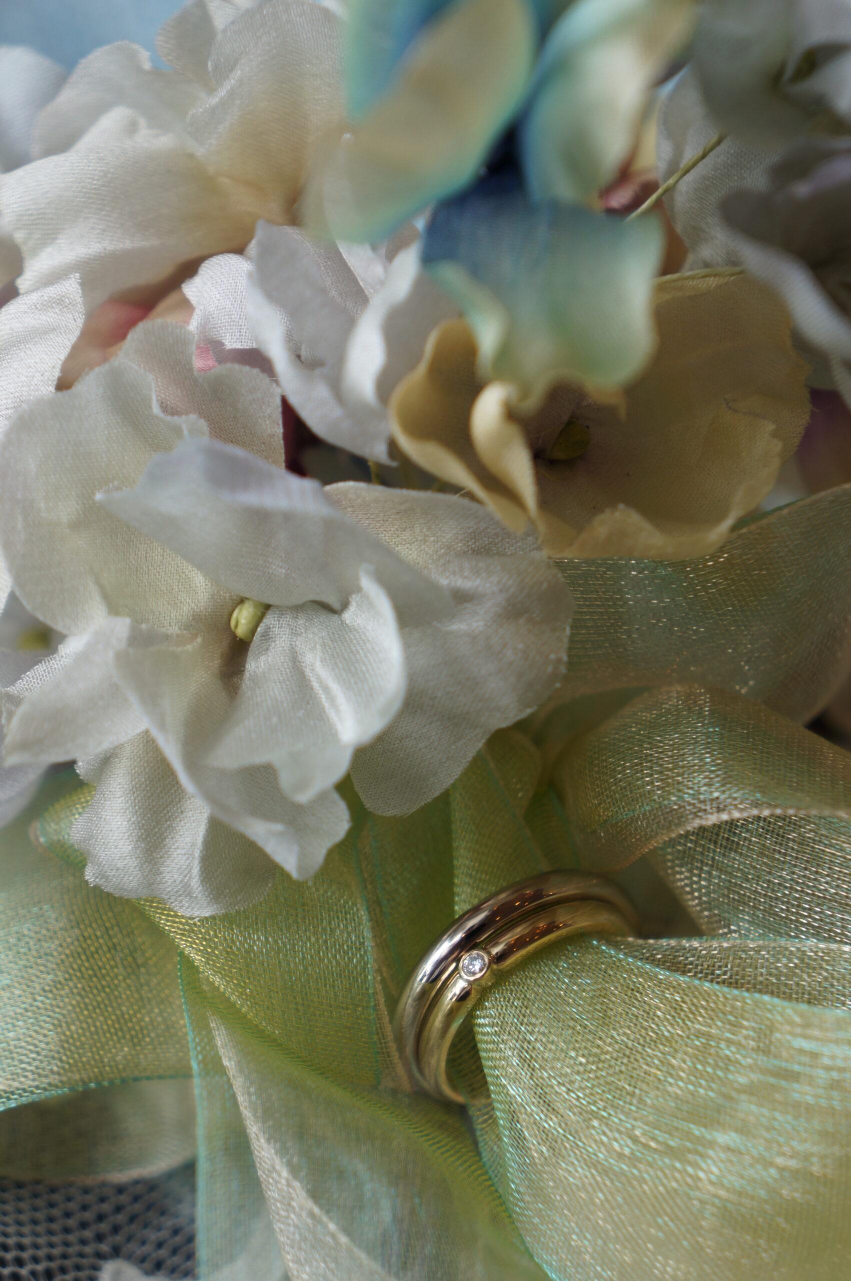 紫陽花の季節に 素敵なお二人へ 結婚指輪