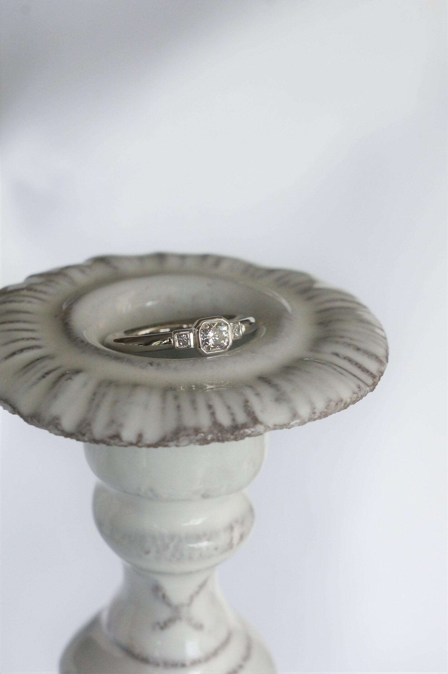 時を越える美しさ オーダーエンゲージリング婚約指輪